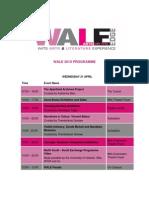 Wale 2010 Programme