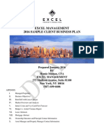 Excel Property Consulting Sample Business Plan