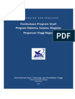 Persyaratan Prosedur Pembukaan Prodi PTN