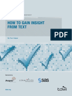 Tdwi How to Gain Insight From Text 106763