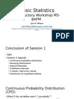 Basic Statistics Session 2
