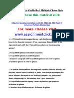 ACC 492 Week 4 Individual Multiple Choice Quiz