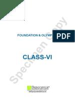 Class VI FOUNDATION & OLYMPIAD