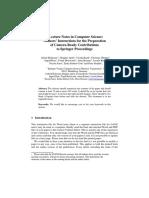 Springer Format