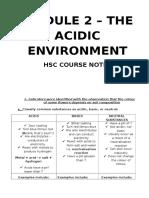 Module 2 – the Acidic Environment