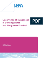 Occurrence of Manganese in Drinking Water and Manganese Control
