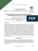 Comparative Phytochemical Screening of Vatashunga, Shatavari