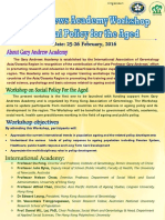 Gary Andrews Academy Workshop on Social Policy for the Aged_workshop