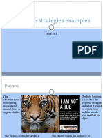 Examples of Persuasive Stratergies
