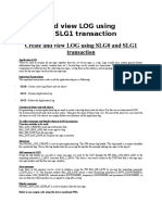 Create and View LOG Using SLG0 and SLG1 Transaction