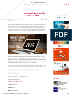 80+ Indian startups to work for in 2015