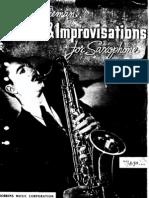 Studies and Improvisations for Sax - Bud Freeman