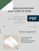 Long Branch Sector Plan - Draft Scope of Work (01/07/2010)