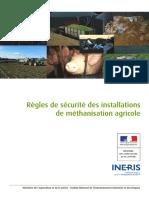 Règles de sécurité des installations  de méthanisation agricole