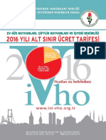 2016 Veteriner Alt Sınır Ücretleri