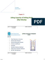 Chapter 7.2 Lifting Capacity of Drilling Fluids