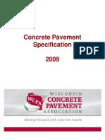 Concrete Pavment Specification