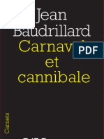 Carnaval Et Cannibale de Jean Baudrillard