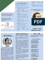 Booklet Mihai Eminescu