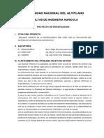 PROYECTO DE PERFIL DE TESIS - HIDROLOGIA