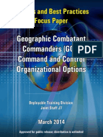 Insights and Best Practices Focus Paper, geographic Combatant Commanders Command and Control Org. Options
