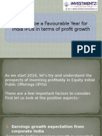 2016 to be a Favorable Year for India IPOs in terms of profit growth -22nd Jan -16.pptx