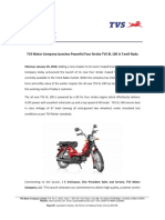 TVS Motor Company launches Powerful Four Stroke TVS XL 100 in Tamil Nadu [Company Update]