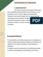 MEMORANDUM DE PLANEACIÓN