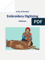 Embroidery Digitizing Software