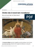 Direito Não é Moral Nem Moralismo! — Conversa Afiada