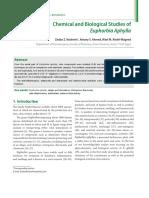 Chimical Biological Studies on Euphorbia