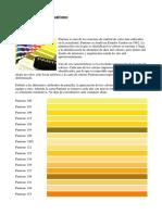 Pantone-Carta de colores