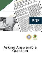 MKDU EBM July 2015-Dr. Anang-Asking Answerable Question
