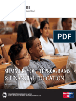 Summer Youth Programs & Financial Education (January 2015 edition)
