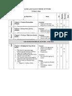 English Language Scheme of Work