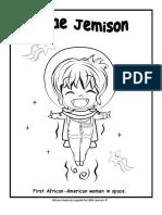 Mae Jemison Coloring Page