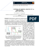 SOLIDIFICATION CONTROL BY THERMAL ANALYSIS OF La-INOCULATED GREY CAST IRON