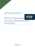 Soft Skills Module 5 Communication