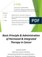 1. Dr. Syafrizal Syafei Basic Principle and Administration of Hormonal and Intgreated Therapy in Cancer