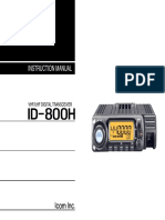 ICOM Id-800h User Operation Manual