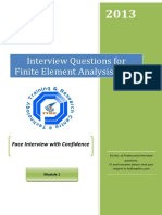 FEA Interview Questions
