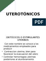 FARMACOS UTEROTÓNICOS