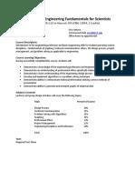 Engineering Fundamentals Syllabus