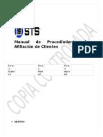 Procedimiento Afiliciacion de Clientes - Copia