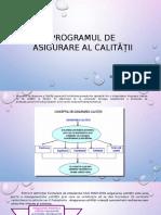 Tema 2. Programul de Asigurare Al Calității (AC) - Elemente Componente