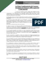 PRECISIONES PARA ETAPA COMPLEMENTARIA DEL CONCURSO PÚBLICO DE NOMBRAMIENTO DE PROFESORES 2009