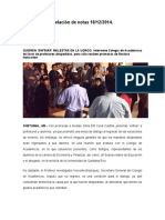 Relación de Notas 18-12-2014