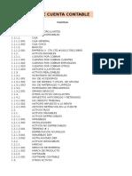 Ejemplo de Catalog de Cuentas Contables