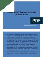 Historia de la Psiquiatría en Egipto, Grecia y Roma