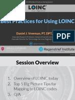 2016 01 27 - Best Practices for Using LOINC